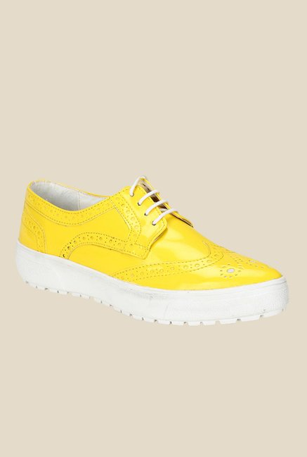 Knotty Derby Alice Yellow Brogue Shoes