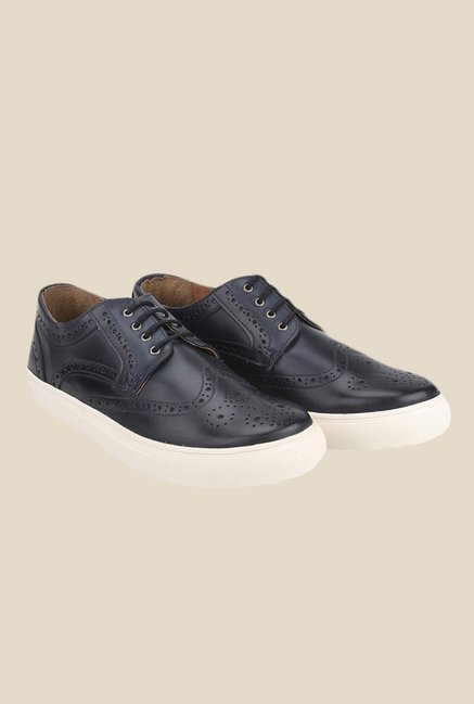 Knotty Derby Alecto Black & Navy Plimsolls