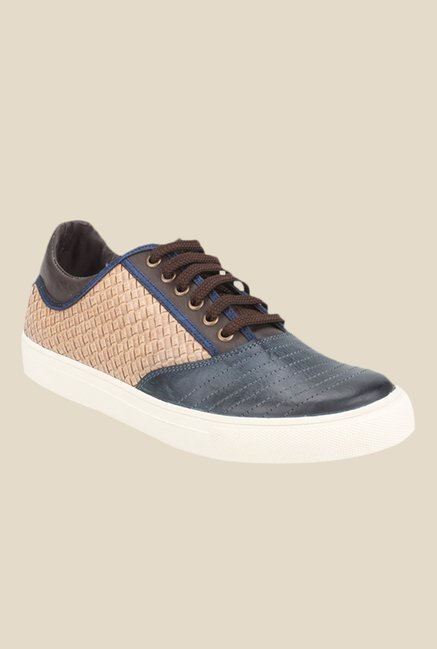 Knotty Derby Alecto Navy & Brown Plimsolls