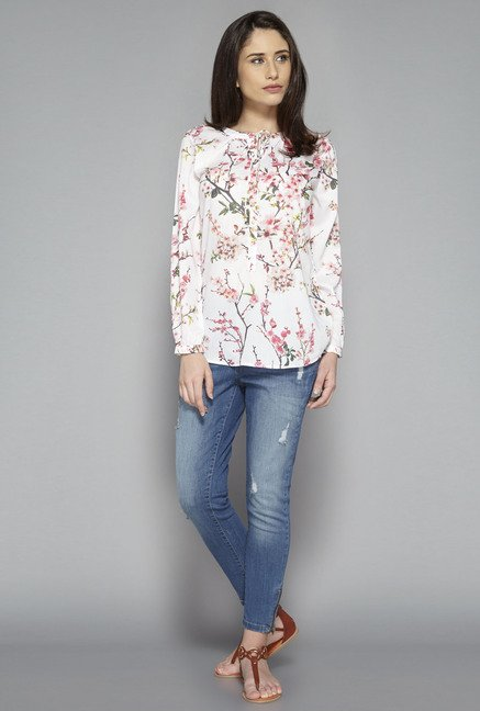 LOV by Westside Off White Cleo Blouse