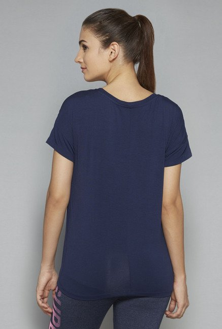 Westsport by Westside Navy Printed T-Shirt