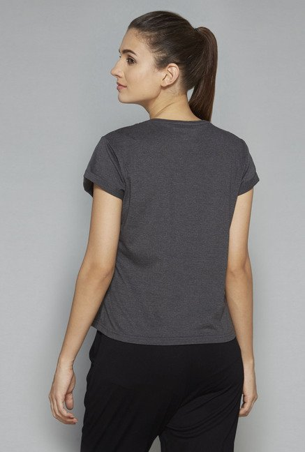 Westsport by Westside Grey Printed T-Shirt