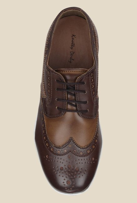 Knotty Derby Susan Brown & Khaki Brogue Shoes