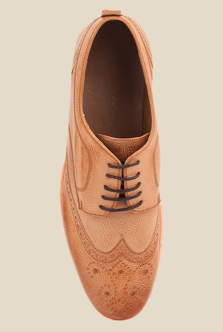 Knotty Derby Johnson Tan Derby Shoes
