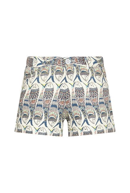Bombay Paisley by Westside Off White Printed Shorts