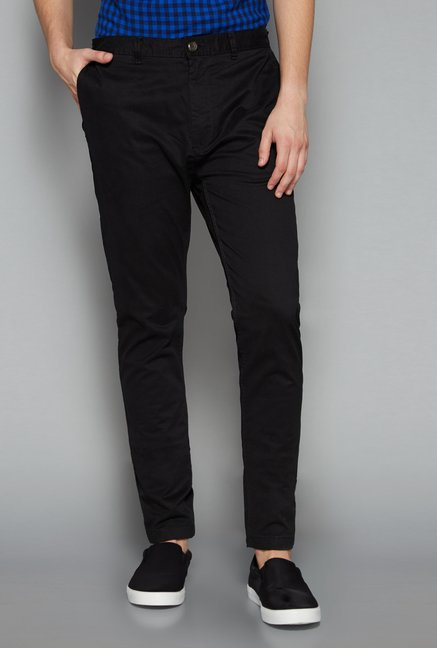 Nuon Men by Westside Black Skinny Fit Chinos
