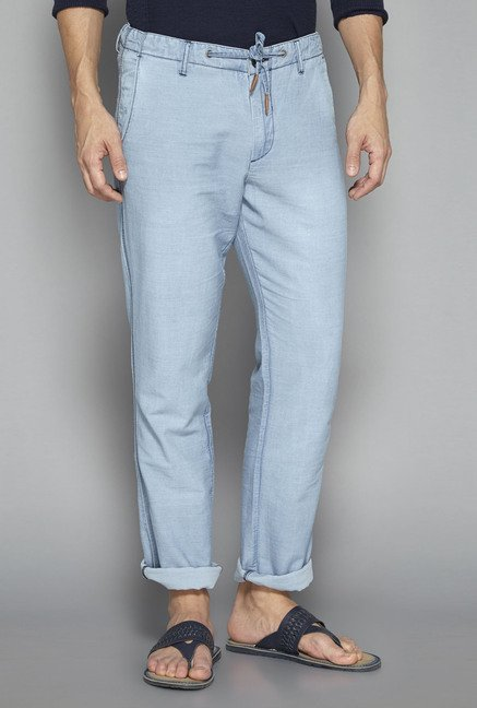ETA by Westside Blue Solid Pant