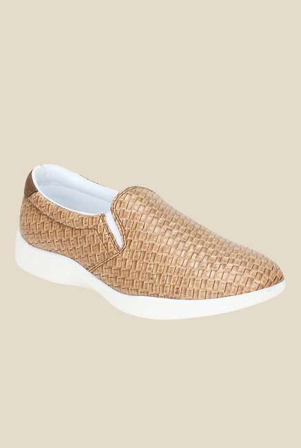 Knotty Derby Susan Gold & Tan Plimsolls