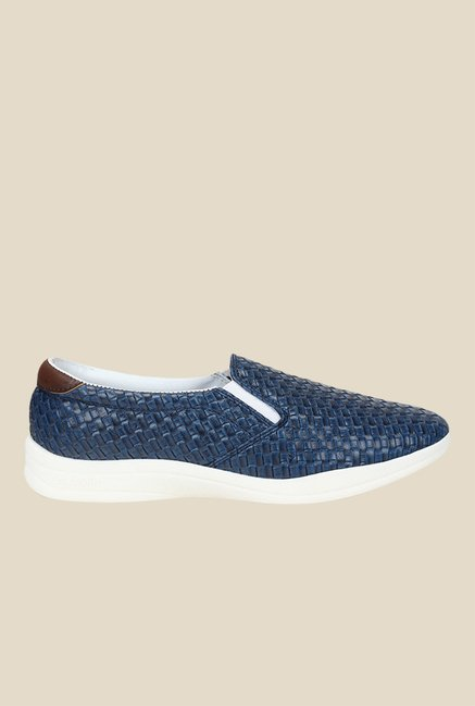 Knotty Derby Susan Navy & Brown Plimsolls