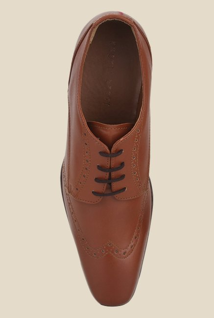 Knotty Derby Arthur Wing Cap Tan Derby Shoes