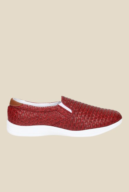 Knotty Derby Susan Red & Tan Plimsolls