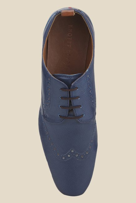 Knotty Derby Knicker Navy Derby Shoes