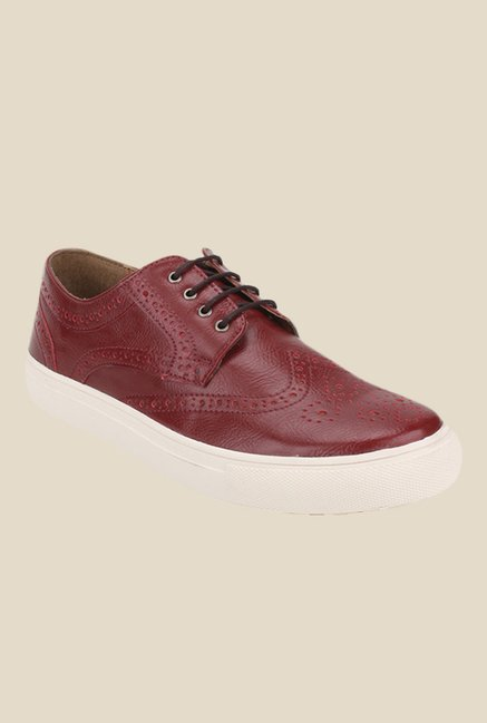 Knotty Derby Alecto Cherry Plimsolls