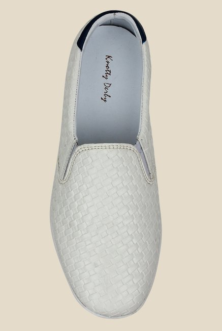 Knotty Derby Susan White & Navy Plimsolls