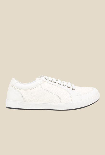 Knotty Derby Carrow White Plimsolls