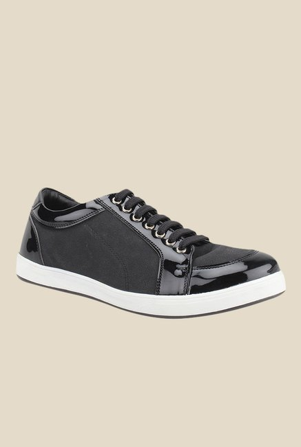 Knotty Derby Carrow Black Plimsolls