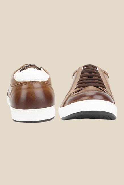 Knotty Derby Carrow Tan & White Plimsolls
