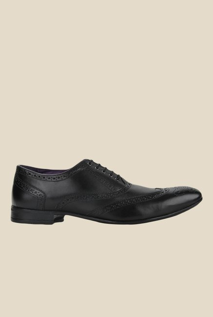 Knotty Derby Viktor Black Brogue Shoes