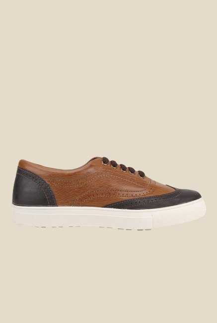 Knotty Derby Alecto Wing Cap Brown & Camel Plimsolls