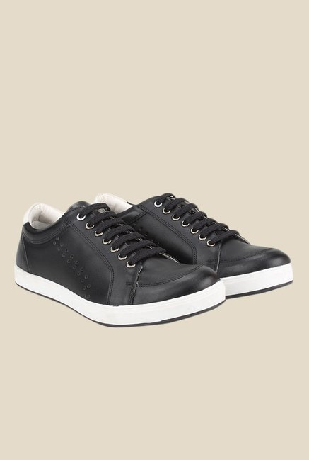 Knotty Derby Carrow Black & White Plimsolls