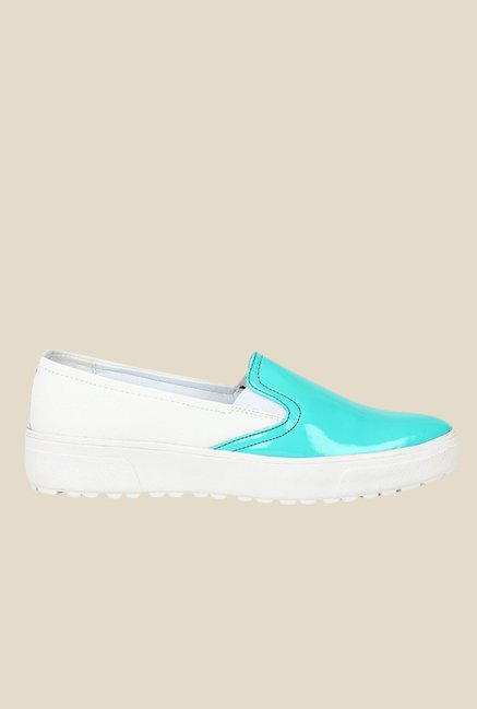 Knotty Derby Alice Turquoise & White Plimsolls