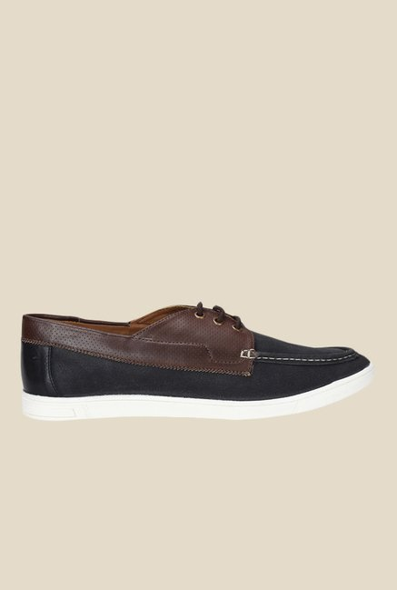 Knotty Derby Terry Summer Black & Brown Plimsolls