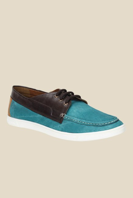 Knotty Derby Terry Summer Turquoise & Brown Plimsolls
