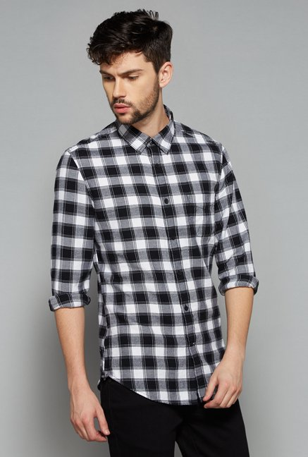 Nuon Men by Westside Black Checks Shirt
