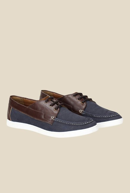 Knotty Derby Terry Summer Navy & Brown Plimsolls