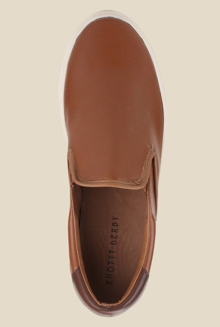 Knotty Derby Alecto Brown Plimsolls