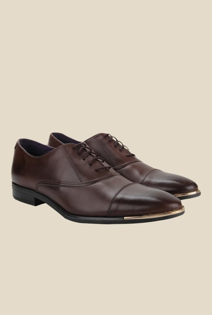 Knotty Derby Vincent Toe Cap Brown Oxford Shoes