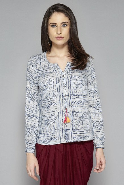 Bombay Paisley by Westside Navy Printed Tunic