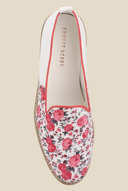 Knotty Derby Thomas White & Pink Loafers