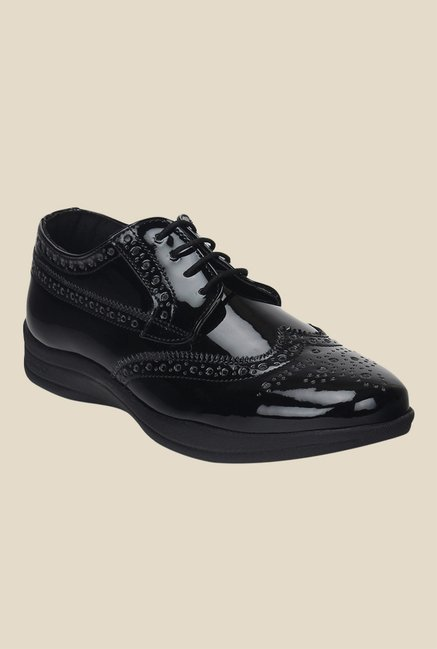 Knotty Derby Susan Black Brogue Shoes