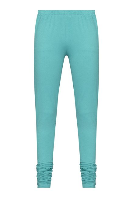Utsa by Westside Turquoise Solid Leggings