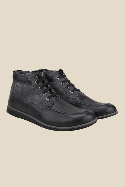 Knotty Derby Anthony Penny Black & Grey Casual Boots