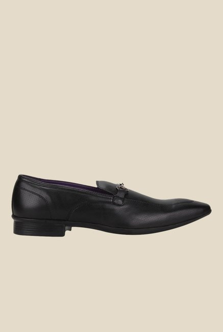 Knotty Derby Arthur Saddle Black Loafers