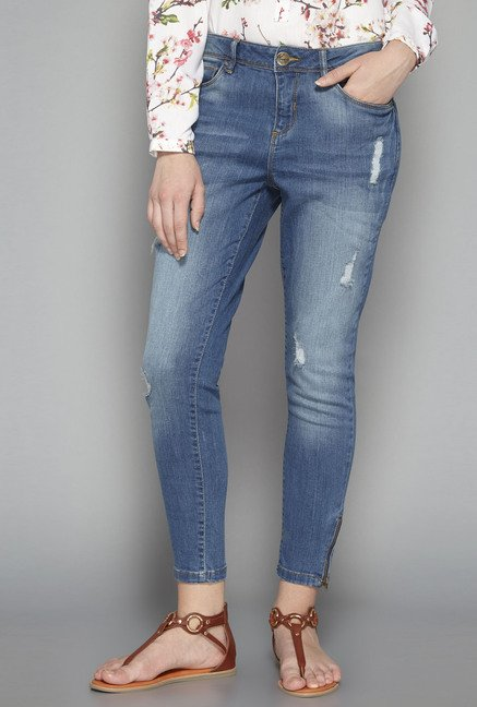 LOV by Westside Blue Ripsy Jeans