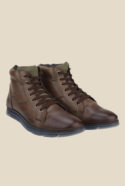 Knotty Derby Johnson Chikoo & Olive Casual Boots