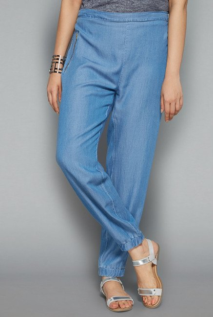 Gia by Westside Blue Solid Pant