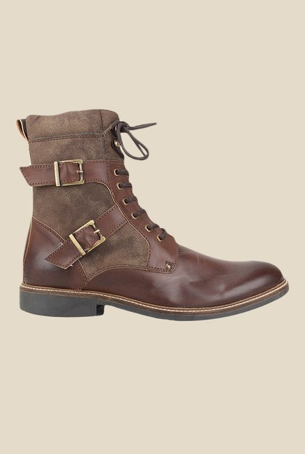 Knotty Derby Burbage Brown Biker Boots
