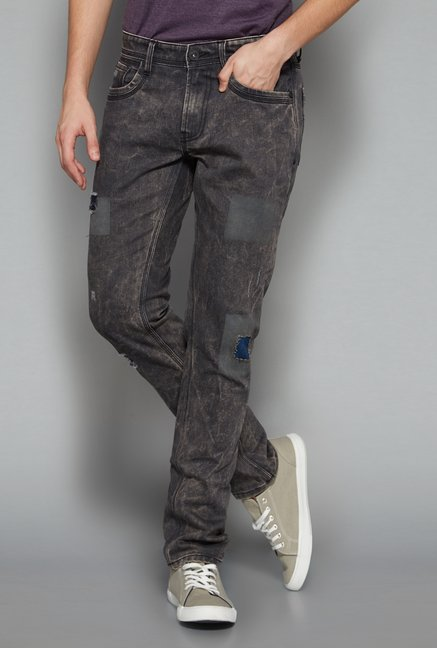 Nuon Men by Westside Grey Distressed Jeans