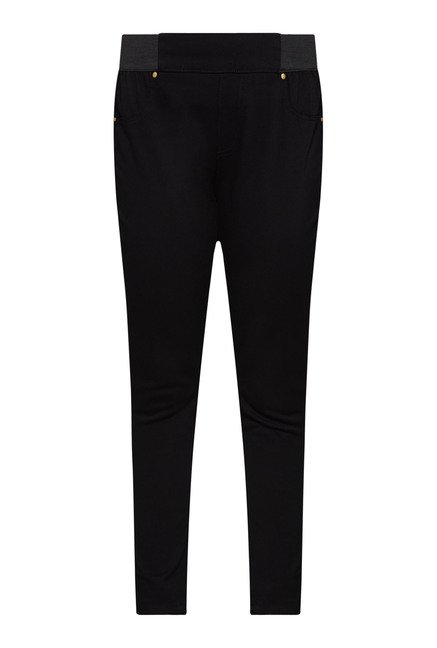 Gia by Westside Black Solid Trouser