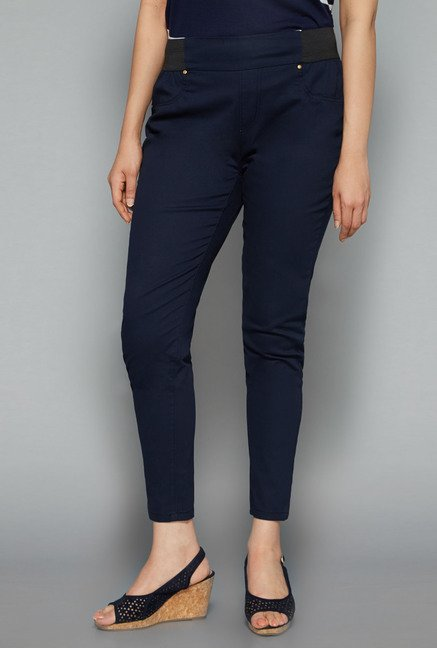 Gia by Westside Navy Solid Trouser