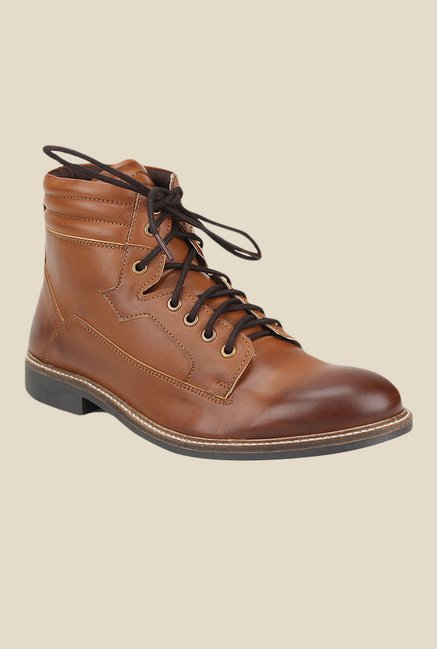 Knotty Derby Burbage Tan Biker Boots