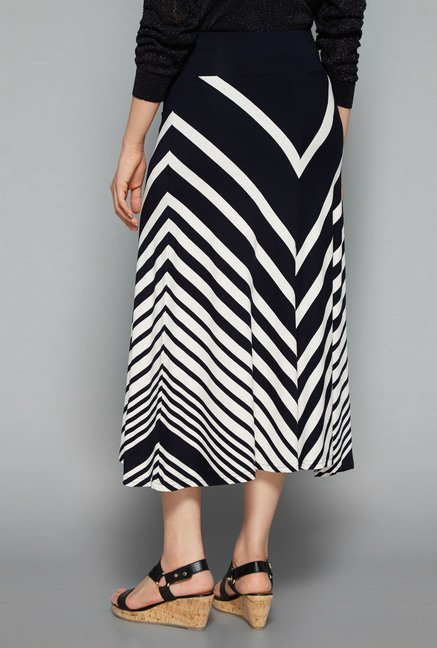 Gia by Westside Navy Midi Skirt