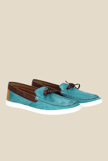 Knotty Derby Terry Summer Turquoise Moccasins
