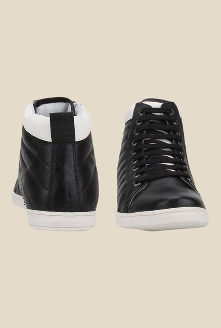 Knotty Derby Terry Side Black & White Sneakers