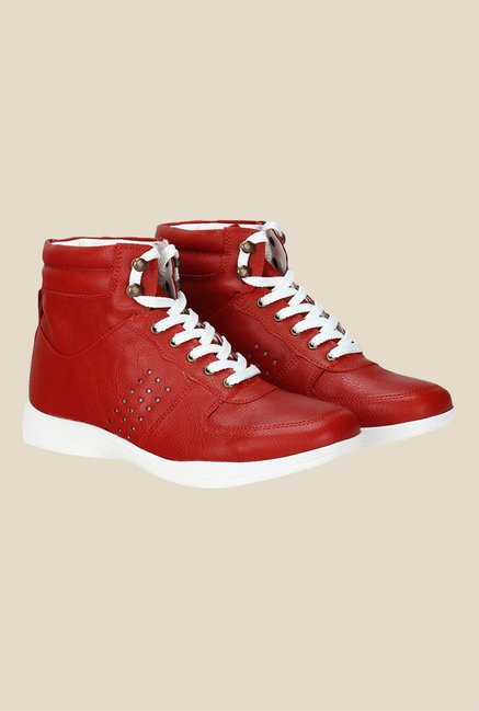 Knotty Derby Susan Red Sneakers