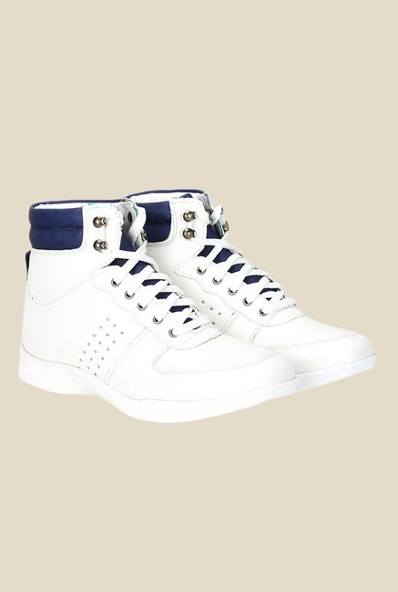 Knotty Derby Susan White & Navy Sneakers